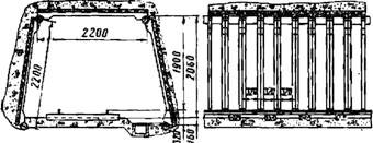 Железобетонная рама штольни