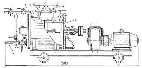 Пневматический аппарат для нагнетания раствора за обделку