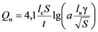 Определение объема проветривания по разбавлению газов взрывания
