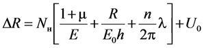 Разность радиусов наружного контура обделки и выработки