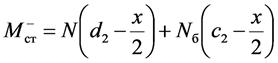 Абсолютная величина предельного момента в стыке при раскрытии стыка