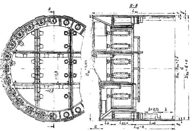 Конструкция немеханизированного щита