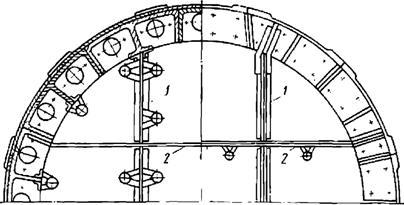 Конструкция перегородок щита