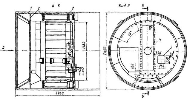 Конструкция щита диаметром 2,6 м