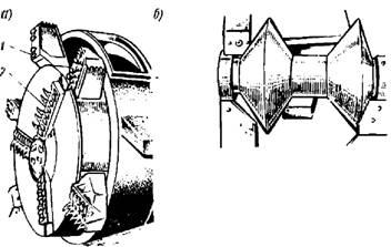 Передняя часть и дисковые скалыватели проходческой машины