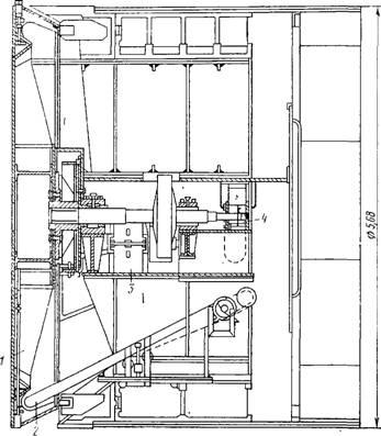 Щит с рабочим органом в виде планшайбы