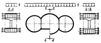 Расчетная схема конструкции станции колонного типа
