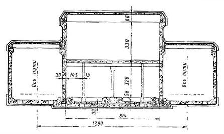 Размещение СТП в тоннеле прямоугольного сечения