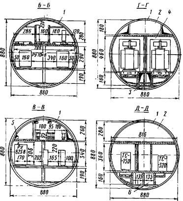 Размещение СТП в тоннеле круглого сечения