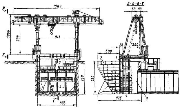 Конструкция щита прямоугольного сечения