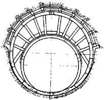 Схема крепления верхней части забоя