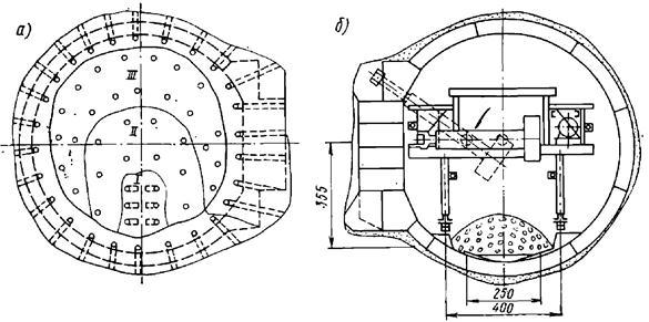 Схема параллельного сооружения основных тоннелей, пилонов и проемов