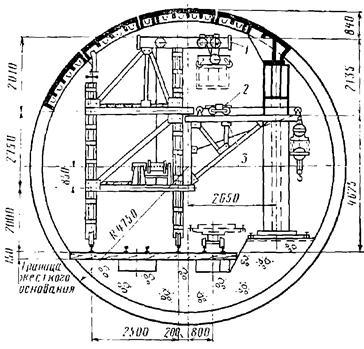 Передвижной кран для монтажа внутритоннельных конструкций