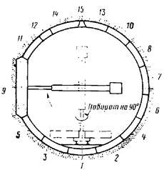Схема монтажа элементов в боковом тоннеле