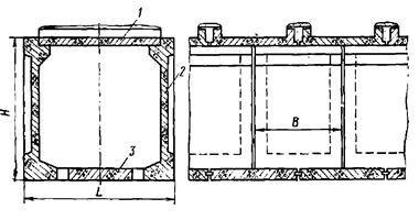 Типовая конструкция прямоугольного коллектора
