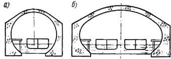 Схема конструкций судоходных тоннелей