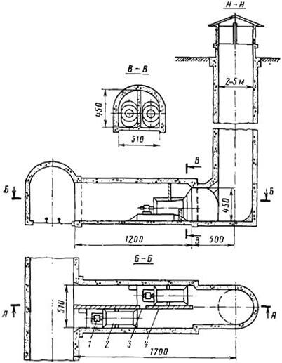 Вентиляционная установка у ствола шахты