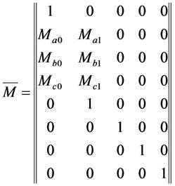 Матрица влияния M