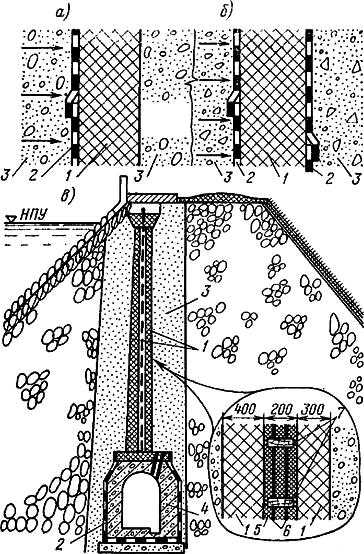 Конструкции усиленной асфальтобетонной диафрагмы