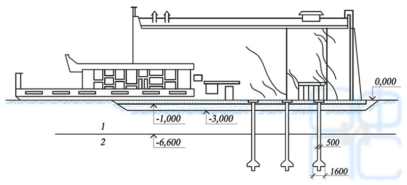 Схема распространения трещин в здании кинотеатра