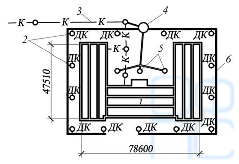 Схема вертикального дренажа у административного здания