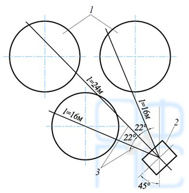 Схема лучевого дренажа для склада мазута