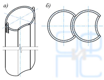 Конструкция лидерно-направляющих труб и схема их примыкания одна к другой