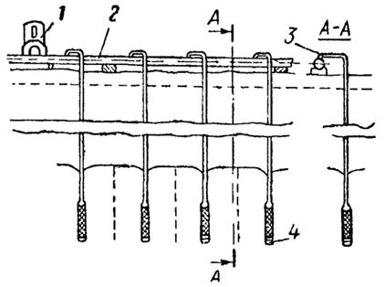 Схема иглофильтровой установки