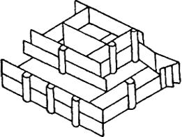 Схема установки опалубки отдельного монолитного фундамента
