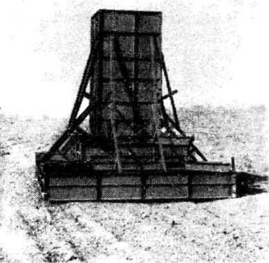 Опалубка монолитного фундамента, собранная из инвентарных щитов