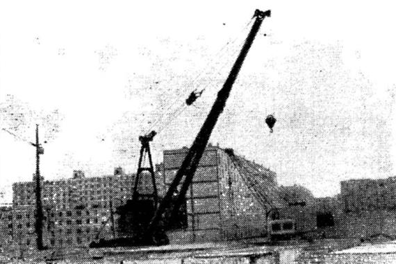 Стреловой кран МСТК-90 на рельсовом ходу