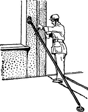 Облегченный подкос для временного крепления и выверки вертикальности панелей