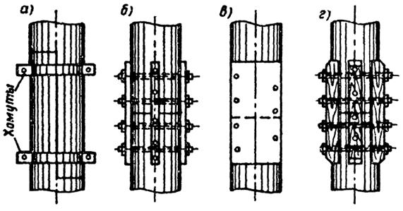 Стыки деревянных свай