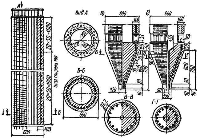 Железобетонная трубчатая свая диаметром 60 см