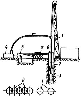 Схема устройства свайных стенок