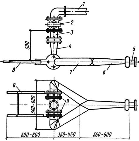 Схема гидромонитора
