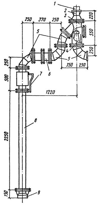Схема гидроэлеватора
