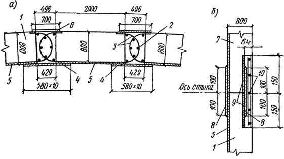 Схема заделки стыков между панелями стены колодца