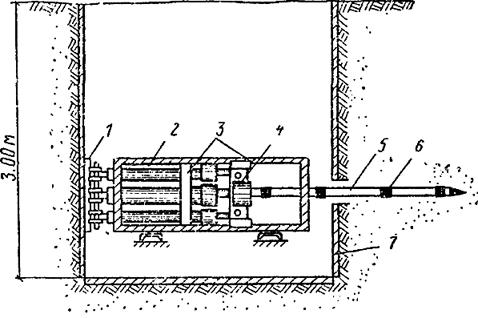 Конструкция шурфа и механизма задавливания инъекторов