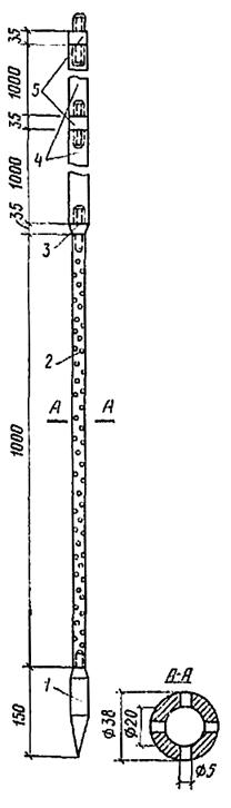 Забивной инъектор переменного сечения для силикатизации просадочных лессовых грунтов
