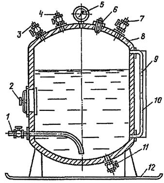 Пневматическая установка для нагнетания закрепляющих растворов