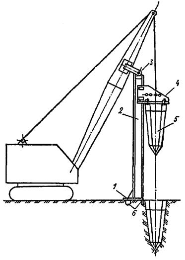 Экскаватор с навесным оборудованием для вытрамбовывания котлованов