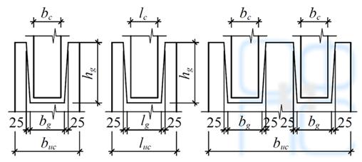 Размеры подколонной части фундаментов
