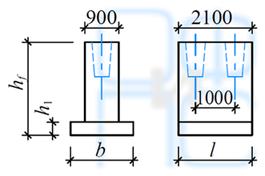 Размеры фундаментов под температурные швы