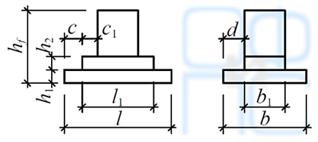 Размеры фундаментов фахверковых колонн