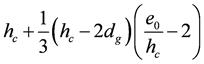 Глубина заделки колонны прямоугольного сечения при эксцентриситете продельной силы