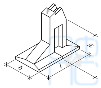 Размеры фундаментов под распорные конструкции