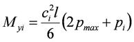 Изгибающий момент в направлении меньшего размера подошвы фундамента