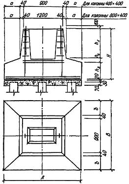 Свайный фундамент со сборным стаканным ростверком