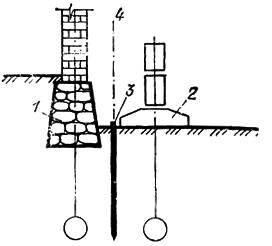 Схема традиционного устройства примыкания двух зданий